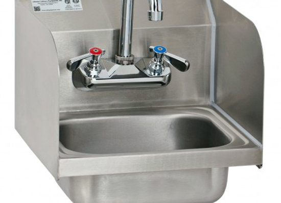 NSF Wall Mount Hand Sink With Splash GuardHand Sink - HS1615S