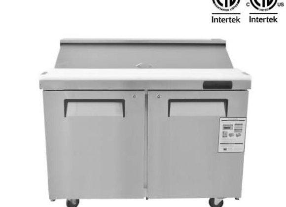 "NSF 48"" 2 Door Mega Top Refrigerated Salad/Sandwich Prep Table- KSR-48BM"