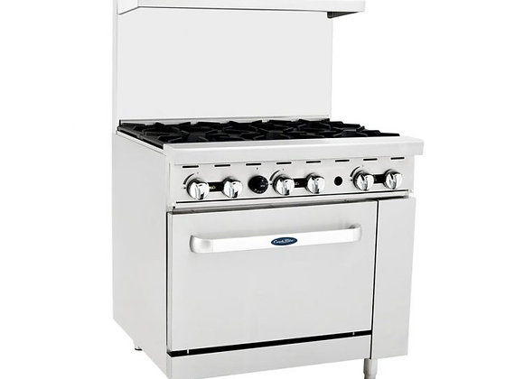 NSF 36″ Gas Range with Oven - C-RO6