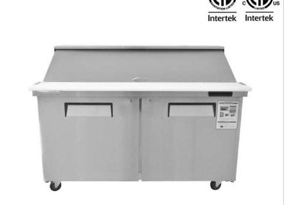 "NSF 60"" 2 Door Mega Top Refrigerated Salad/Sandwich Prep Table - KSR-60BM"
