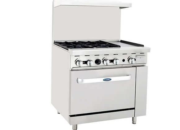 NSF 36″ Gas Range with Oven -ATO-4B12G