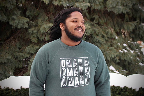 Omaha OMA Crewneck in Green