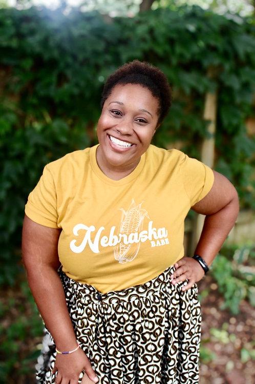 Nebraska Babe Tee in Yellow