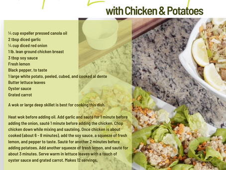 FILIPINO LETTUCE WRAPS with Chicken & Potatoes