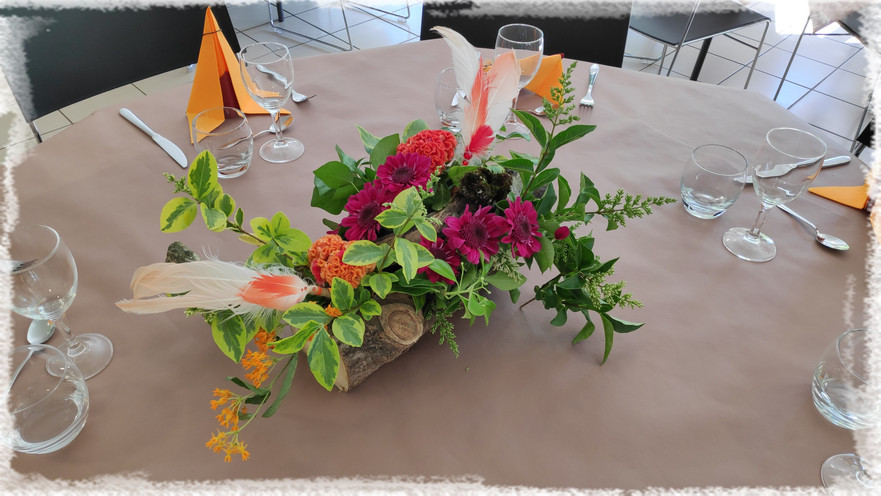 A chaque table, sa composition fleurale