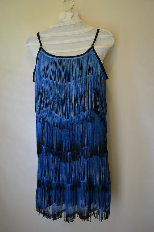 Blue Fringed Dress