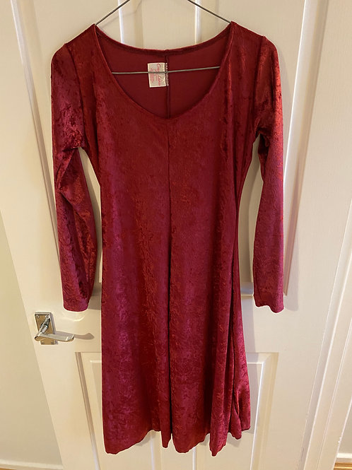 Pink velour dress