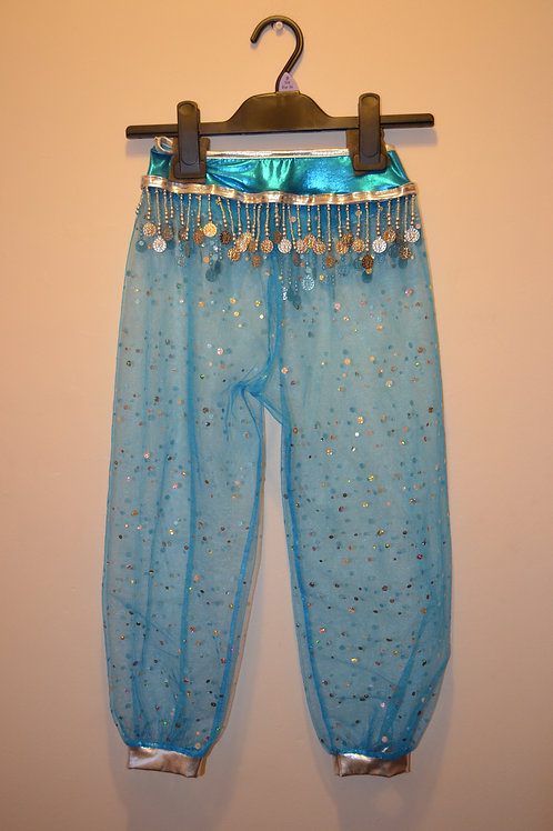 Blue Harem Pants with Headdress
