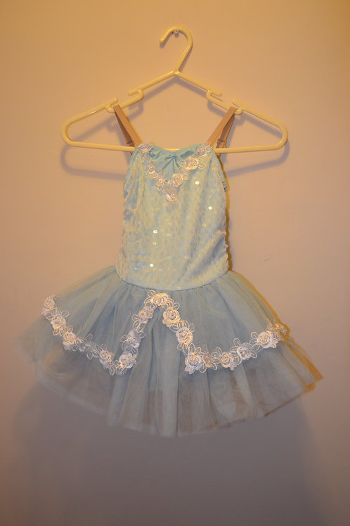Light Blue Tutu with Flower decoration