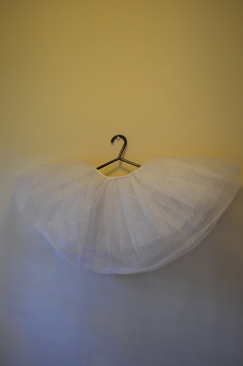 Sparkly White Tutu Skirt