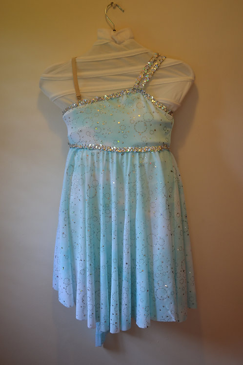 Two Tone dress with Silver Circel pattern