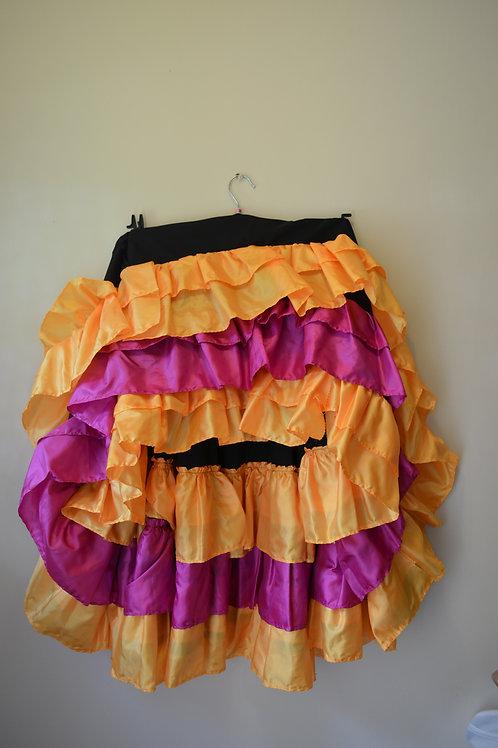 Ruffle Skirt (Black, Yellow & Pink)