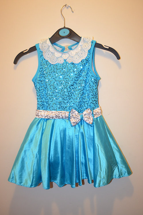 Sparkly Blue Dress with Underskirt