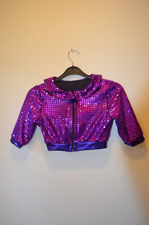 Purple Mirrorspot Jacket with netted Skirt