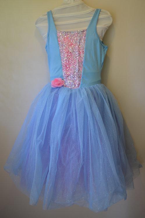 Blue & Pink Romantic Tutu