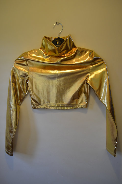 Long Sleeved Gold Top