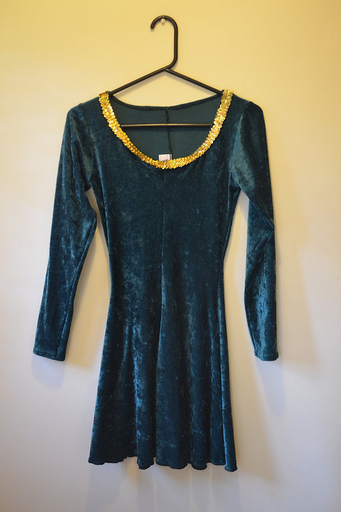 Velvet Green Irish Dress