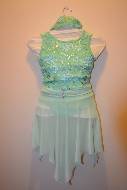 Mint Green Lyrical Dress with Headdress