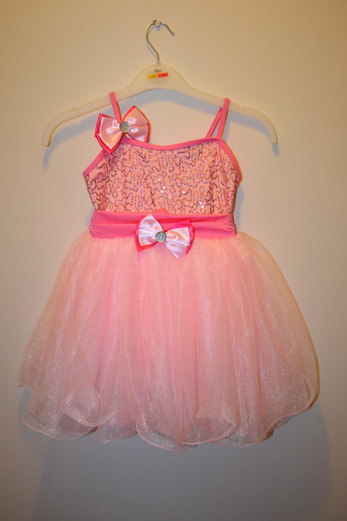 Sparkly Pink Dress with Net Skirt