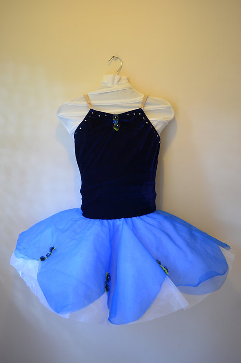 Navy Body with White and Blue overlay Tutu