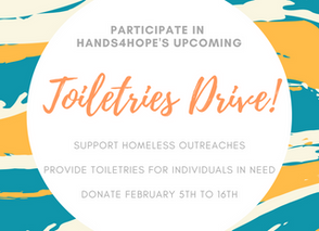 The Annual Hands4Hope Toiletries Drive is Right Around the Corner!