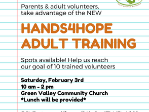 Hands4Hope Adult Training