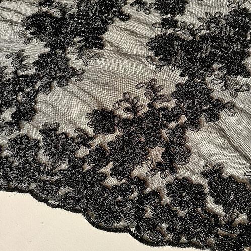 Spitzenstoff schwarz - Reststück