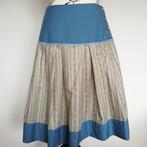 Trachtenrock beige/hellblau