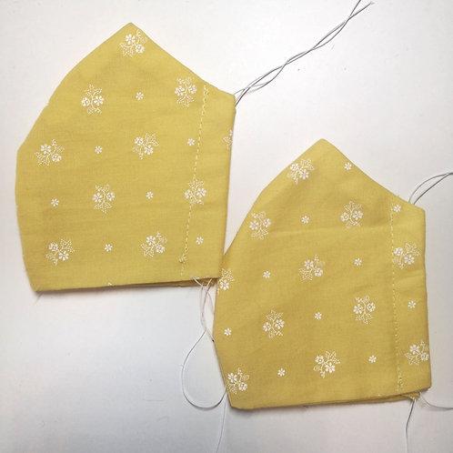 Masken Set Kindermasken gelb