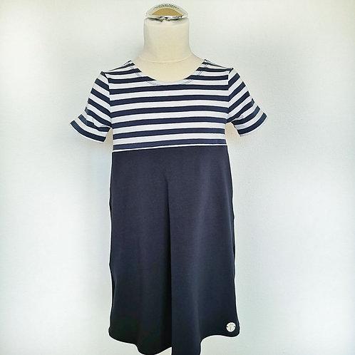 """Jersey Kleid """"Anni"""" mit Ärmeln Gr. 110/116"""