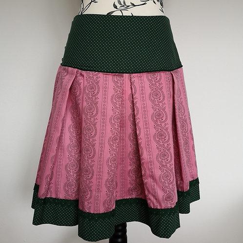 Trachtenrock grün/rosa