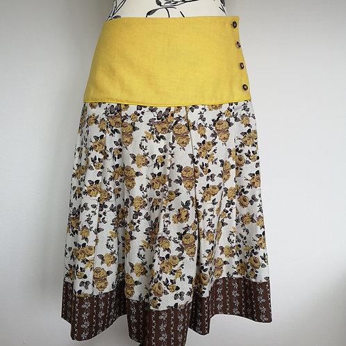 Trachtenrock gelb / braun