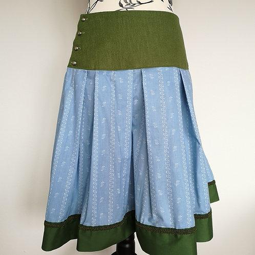 Trachtenrock grün / hellblau