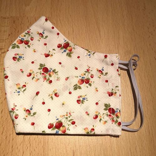 Stoffmaske Damen Gr. S, Erdbeeren