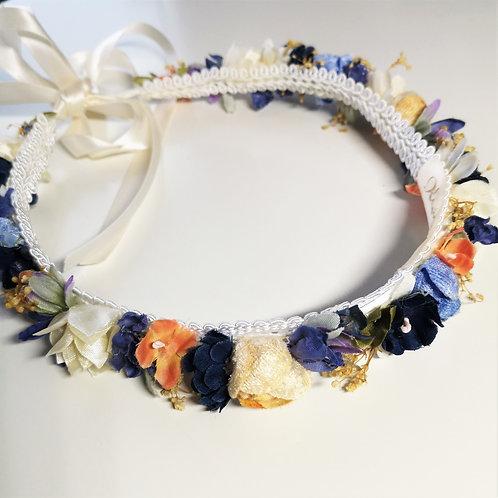 Blumen Haarband blau