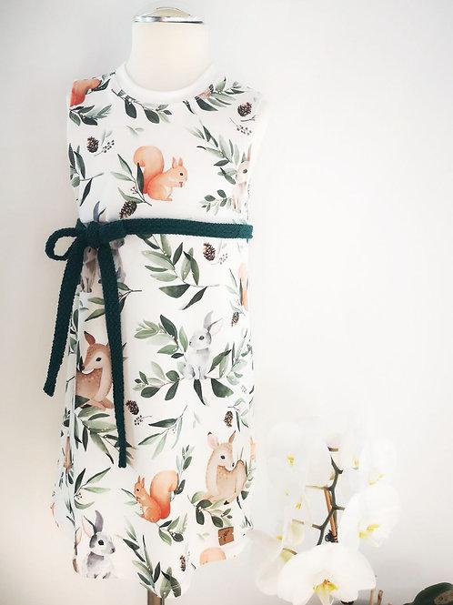 """Jersey Kleid """"Anni"""" Wildtiere Gr. 98/104"""