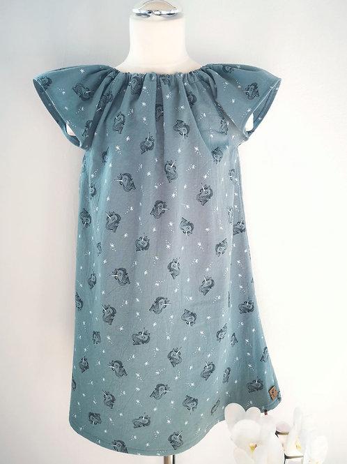 """Kleid """"Emy"""", Einhorn, Gr. 122/128"""