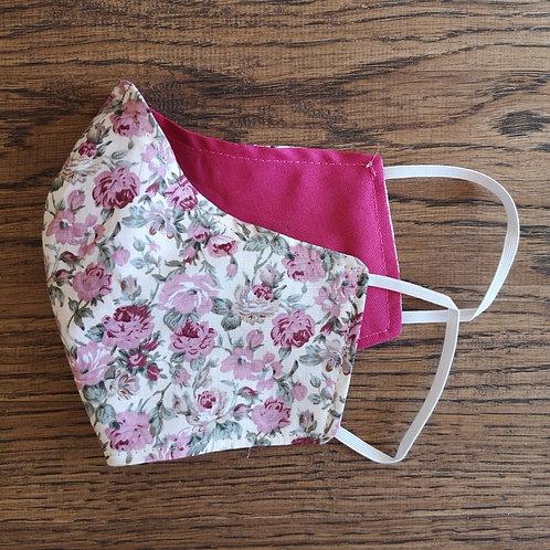 Wendemaske Damen Gr. S pink / Rosen