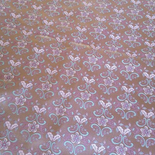 Trachtenjacquard rosa/mint - Reststück