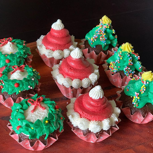 Christmas Cupcakes 6 Pack