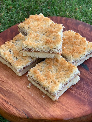 Coconut Jam Slice - Sugar Free