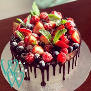 Berry Drip Cake.