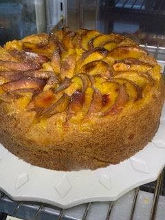 Peaches & Custard Cake