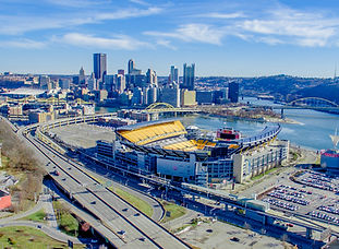 Aerial Photo of Pittsburge from a drone, sUAS