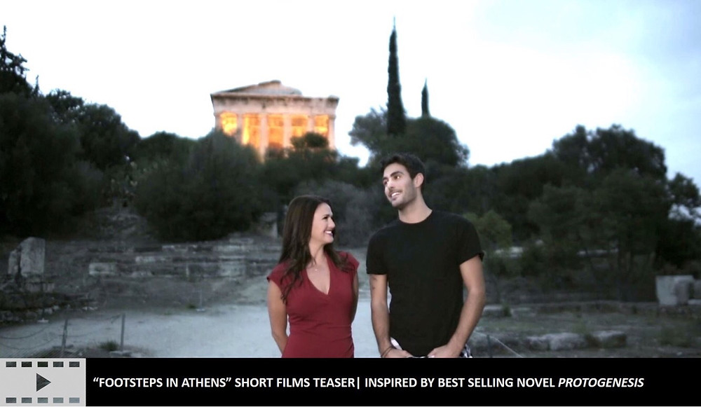 "Official teaser for ""Footsteps in Athens"" short film series on YouTube"