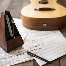 Bladmuziek en gitaar