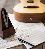 Noten und Gitarre