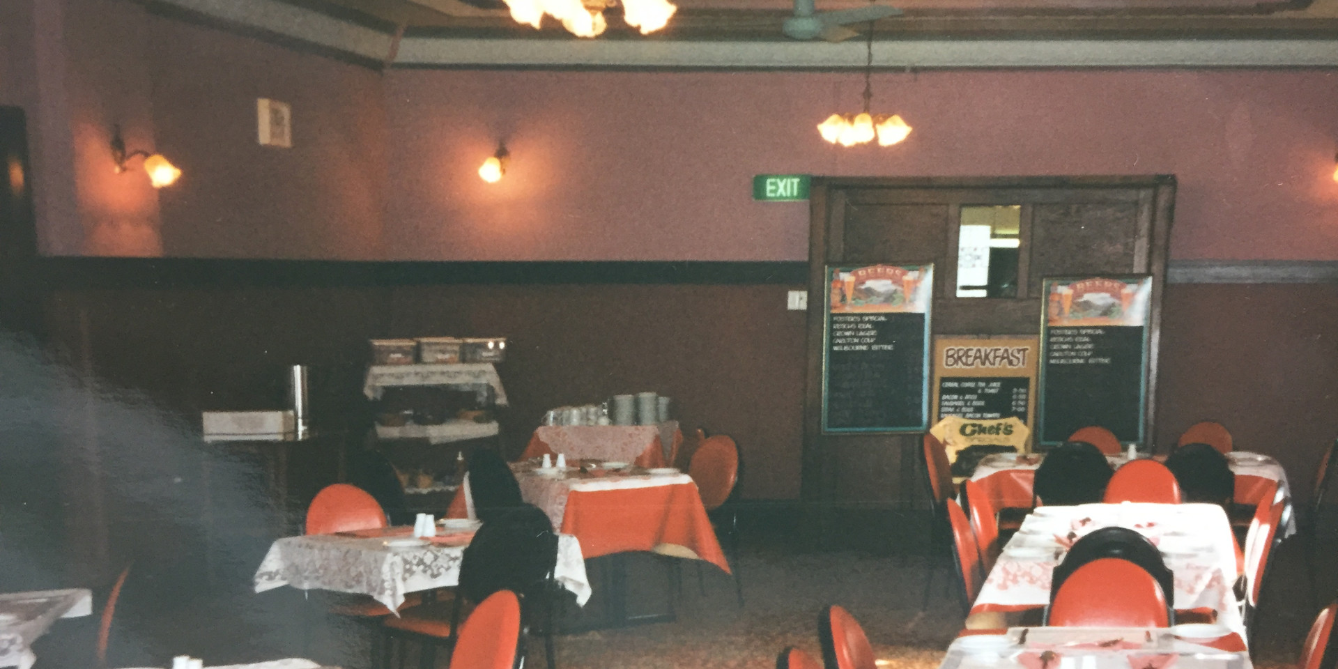 Eatons Hotel 90's dining room