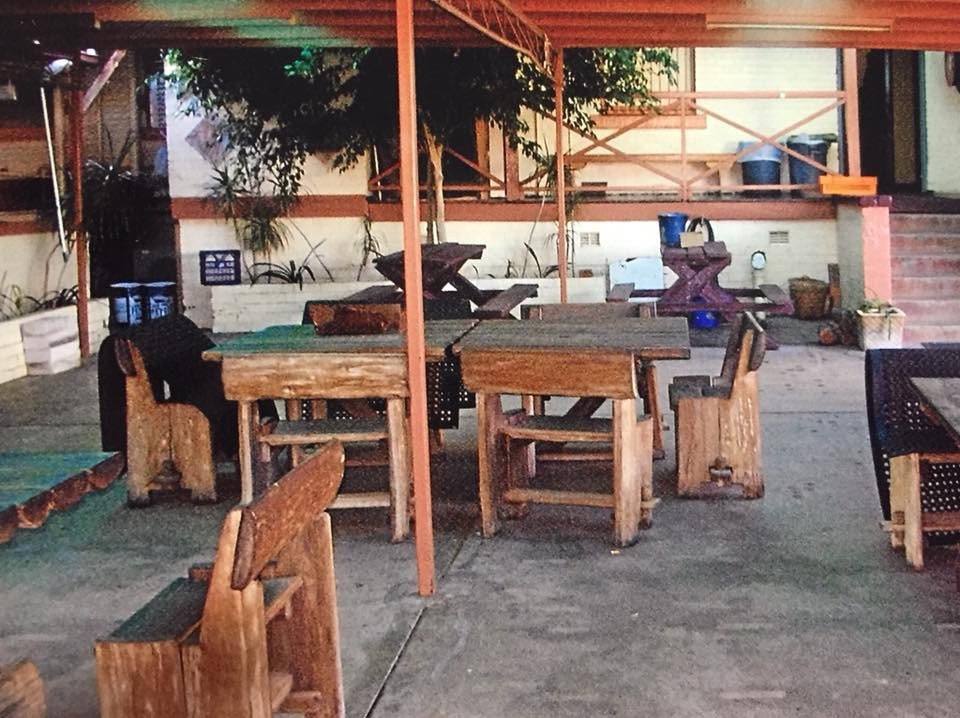 Eatons Hotel 2000's beer garden