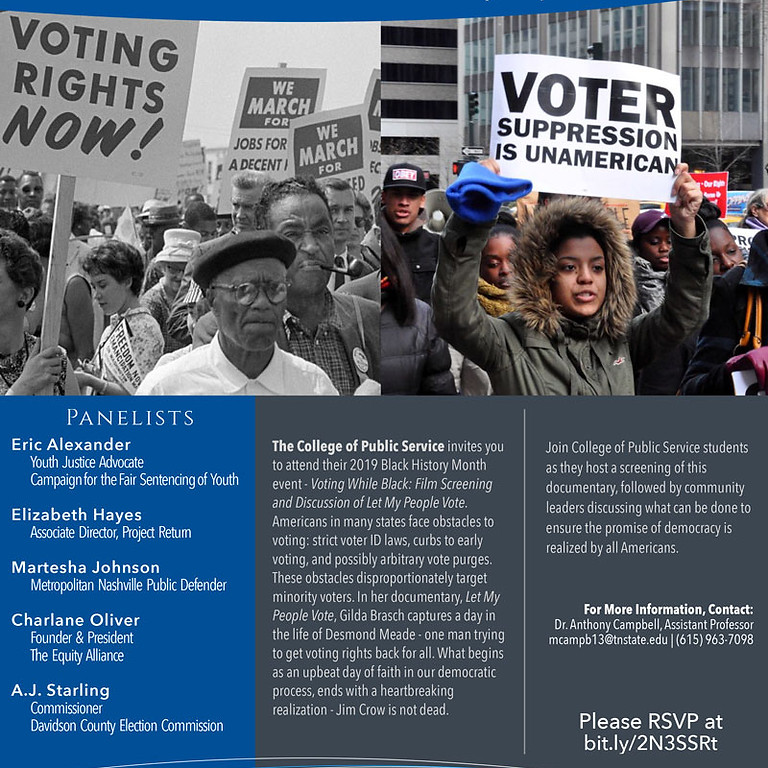 Voting While Black Film Screening & Discussion of Let My People Vote Movie